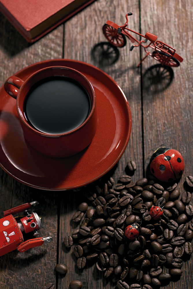 red coffe